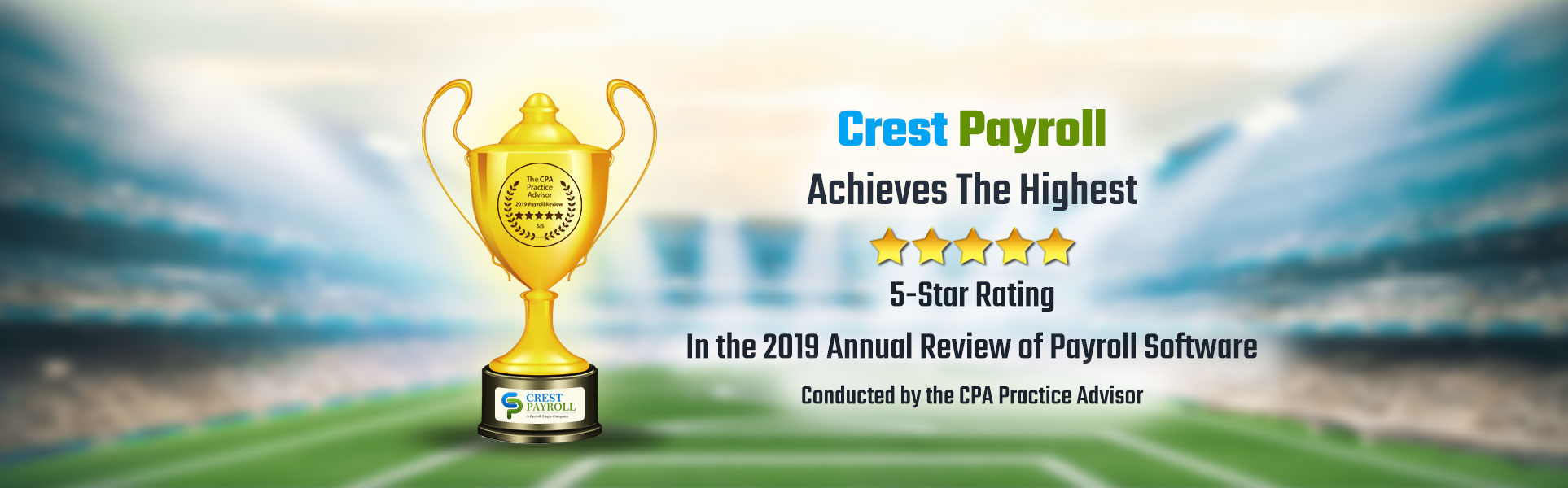 Crest Payroll Achieves The Highest 5-Star Rating